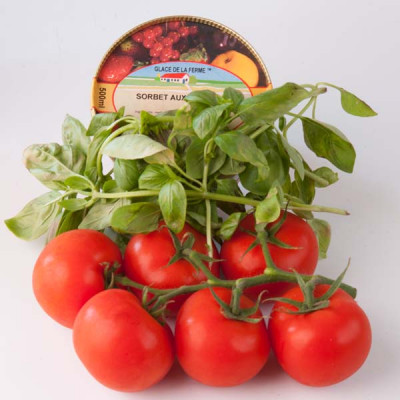 sorbet tomate basilic charcuterie la ferme. Black Bedroom Furniture Sets. Home Design Ideas