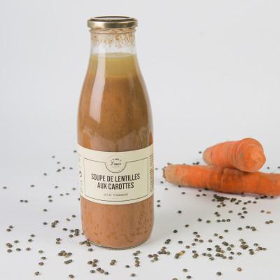Soupe de lentilles aux carottes