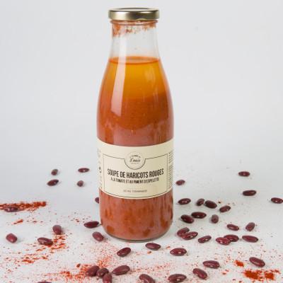 Soupe de Haricots rouges au piment d'Espelette.