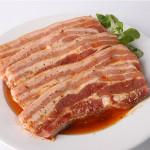Poitrine de porc marinée